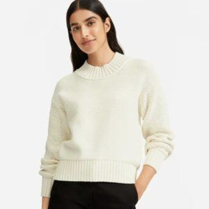 Everlane- Texture Cotton Cable Sweater- NEW